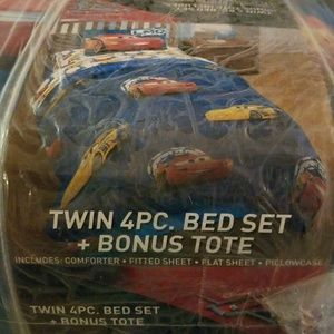 Cars Twin 4pc bed set w/tote